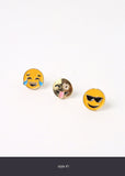 3 Pair Mixed Emojis Stud Set