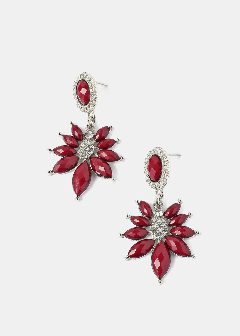 Flower Burst Dangle Earrings