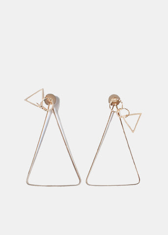 Triangle Drop Double-Sided Earrings