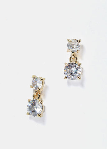 Small Gem Dangle Earrings
