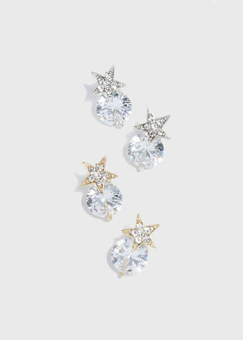 Star & Gemstone Earrings