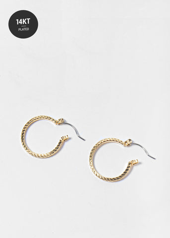 14 KT Gold Plated Small Hoop Earrings