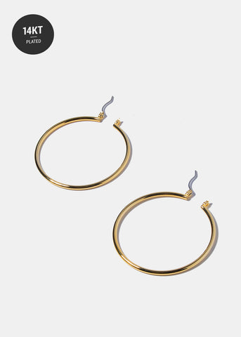 14 KT Gold Plated Hoop Earrings