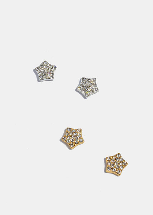 earrings stud earring star studs gold
