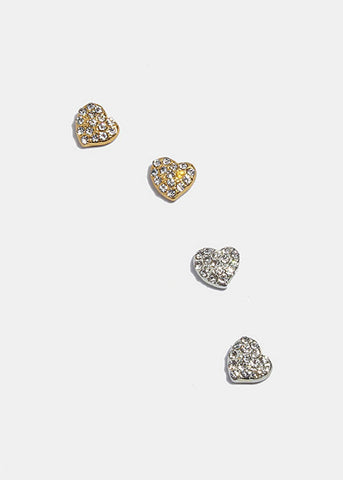 Magnetic Heart Stud Earrings