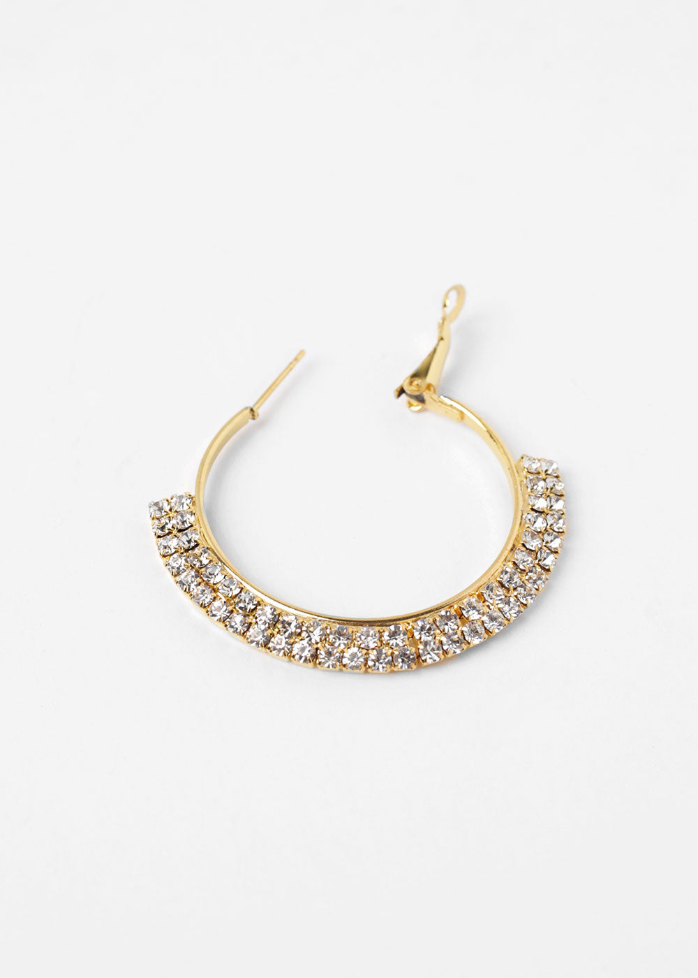 Double Lined Rhinestone Hoops