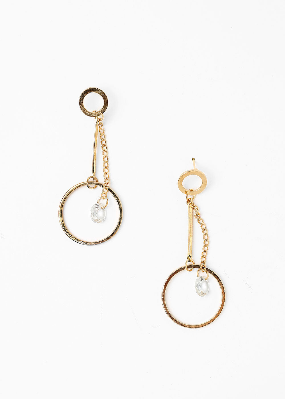 earrings double gem miss shop circle a products
