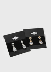 Solitaire Gem Dangle Earrings