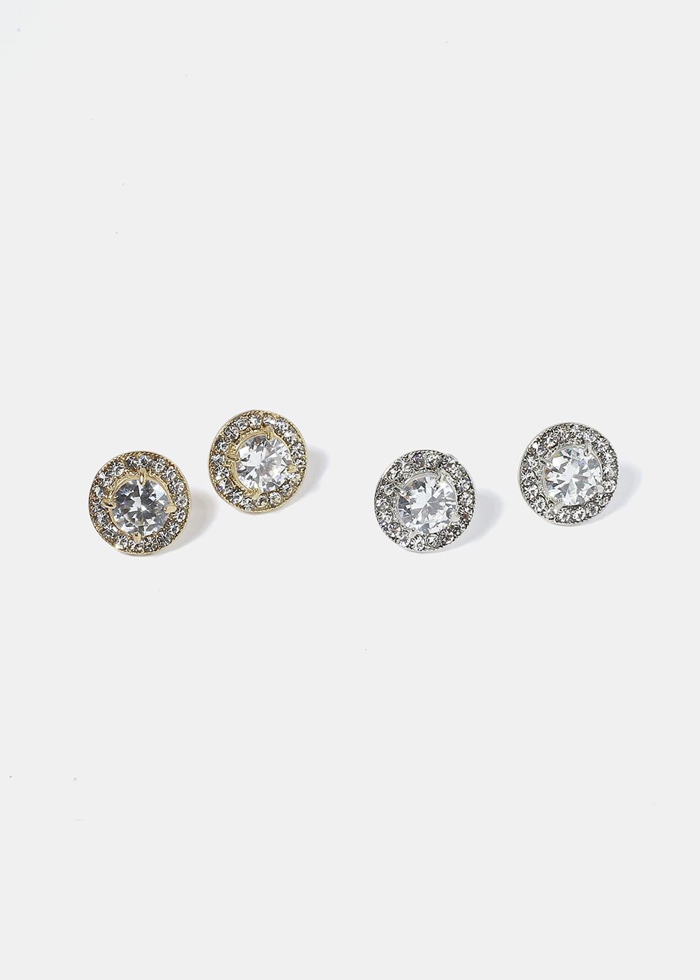 Circle & Square Rhinestone Earrings