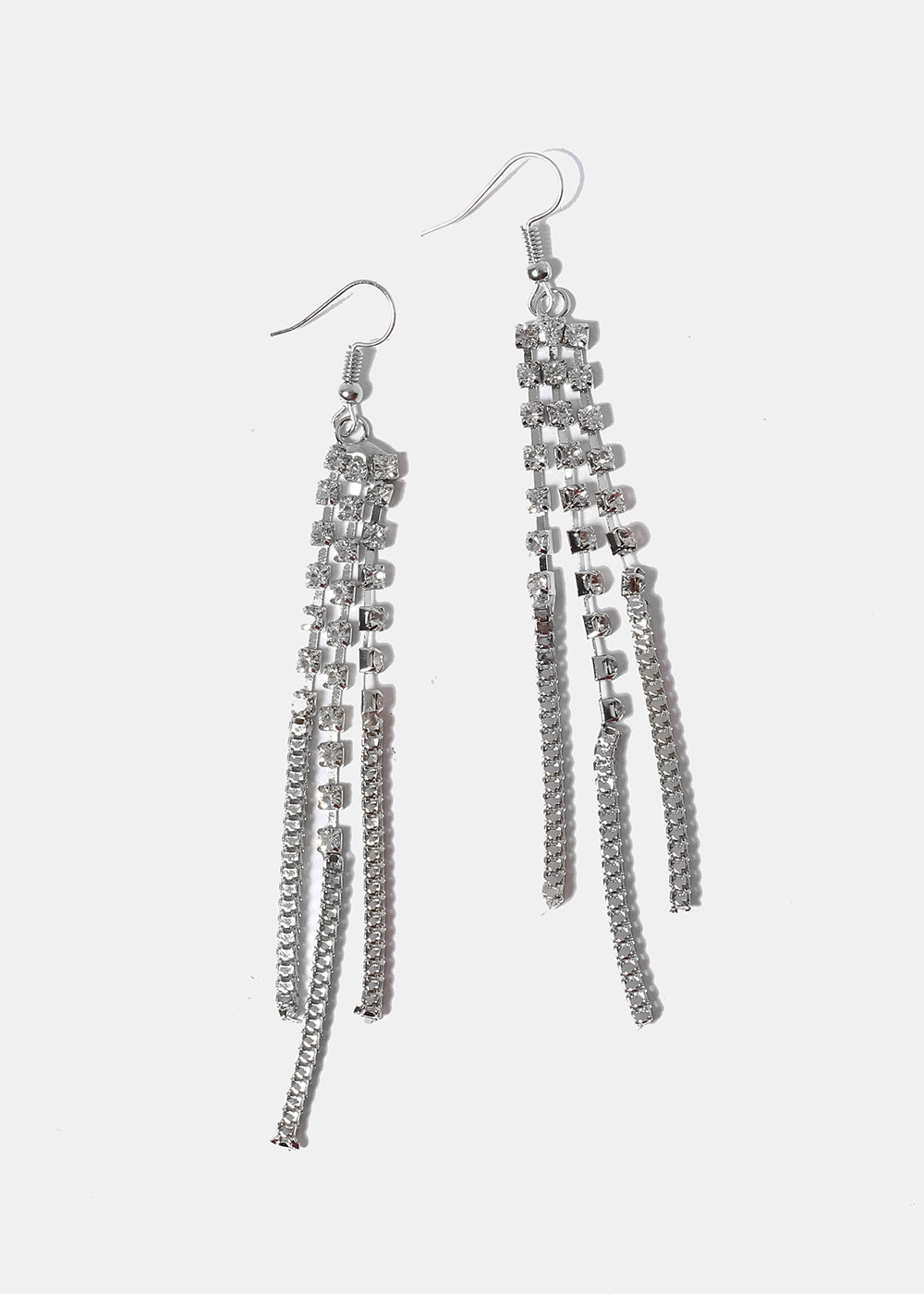 Rhinestone Fringe Earrings