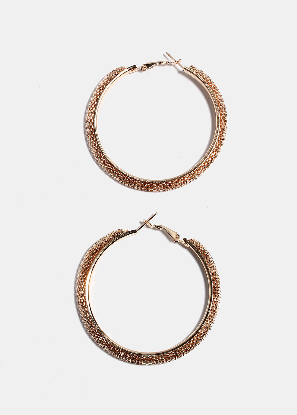 Gold Mesh Hoop Earrings