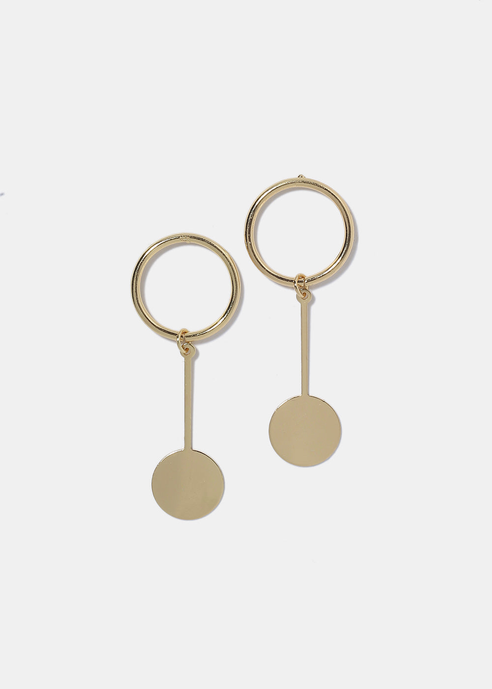 multi circular gold drop earrings bonas circle jewellery oliver mirnesa