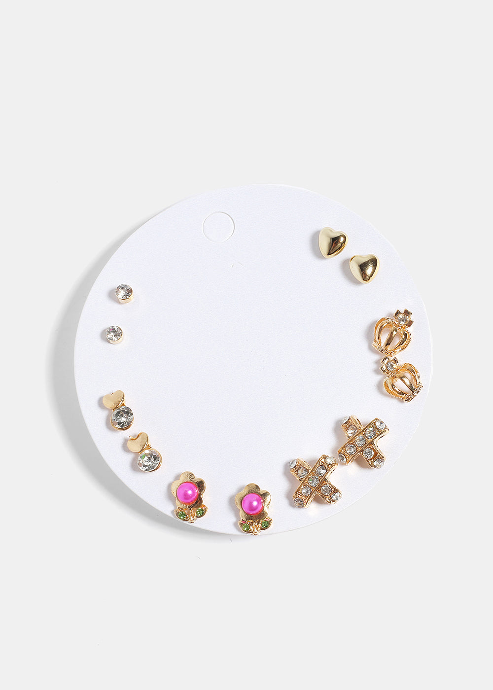 crown shaped gold in princess small rose earrings on original product luulla stud themed