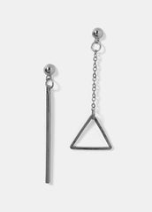 Triangle & Bar Drop Earrings