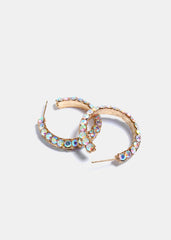 Double-Sided Rhinestone Hoops