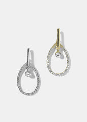Rhinestone Tear Drop Dangle Earrings