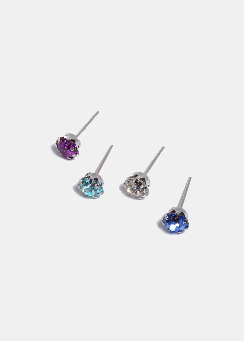 12 Pair Birthstone Stud Set