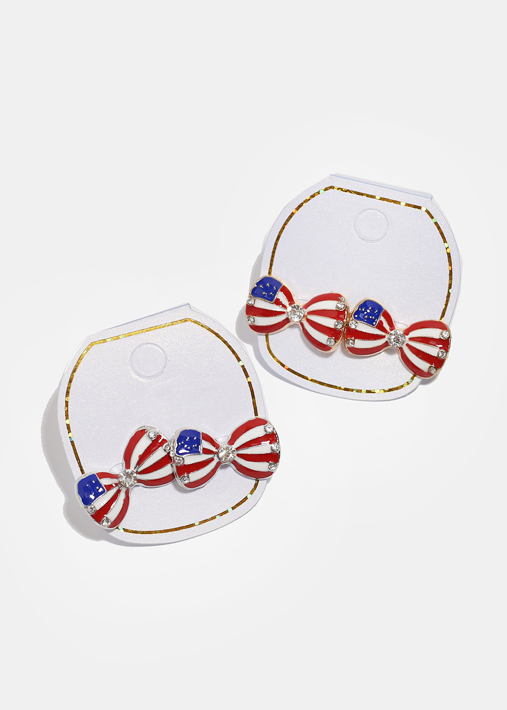 American Flag Bow Earrings