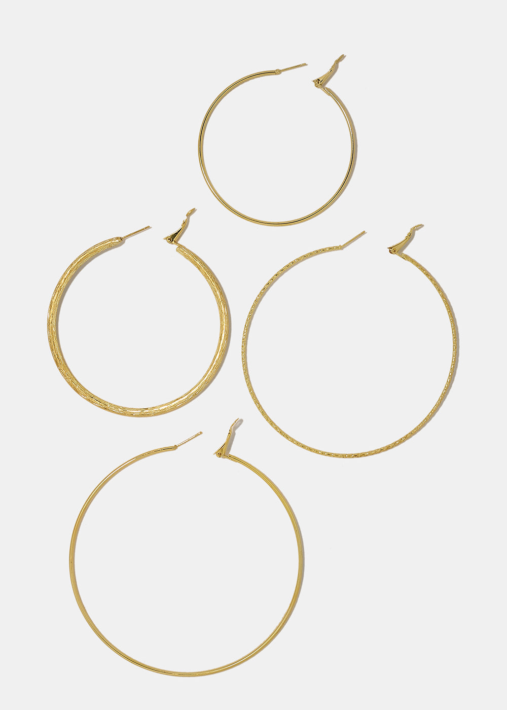 4-Pair Large Multi Hoop Set
