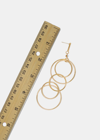 Linked Circle Dangle Earrings