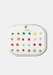 12-Pair Micro Fruit Studs