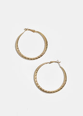 Hammered Metal Hoop Earrings
