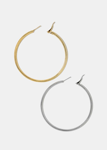 Ridged Hoop Earrings