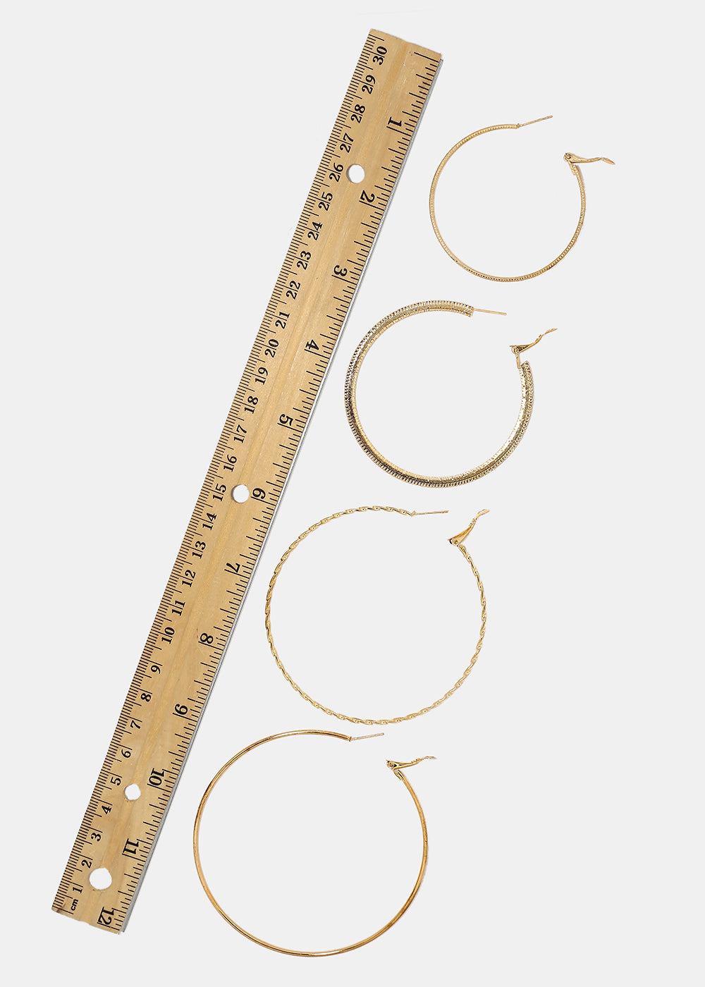 4-Pair Multi Hoop Earrings