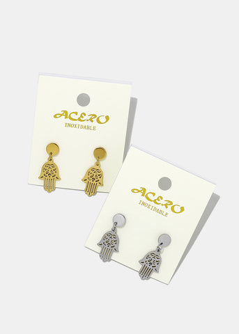 Hamsa Hand Dangle Earrings
