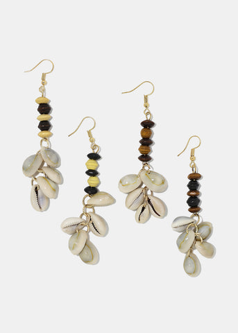 Cowrie Shell Dangle Earrings