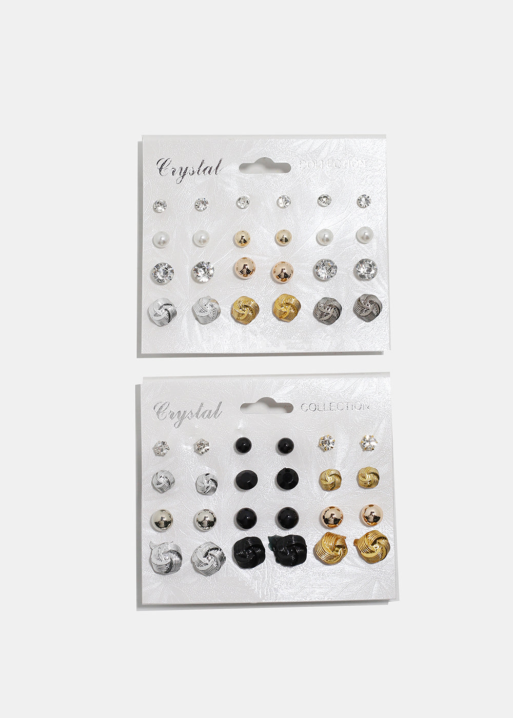 12-Pair Knot Stud Earrings Set