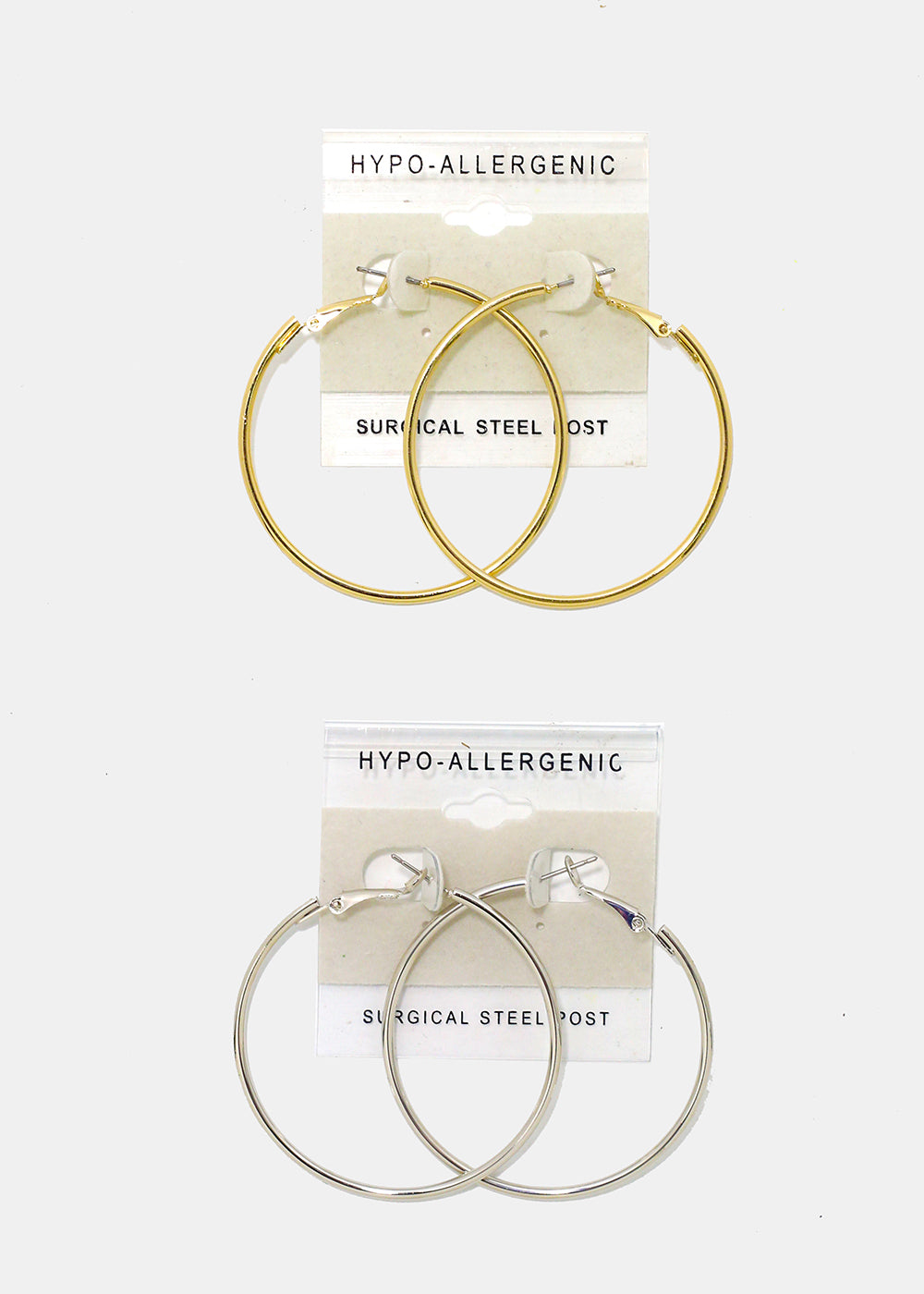 Medium Smooth Hoop Earrings