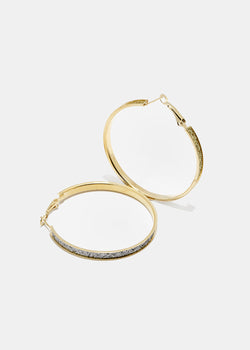 3-Pair Glitter Hoop Set