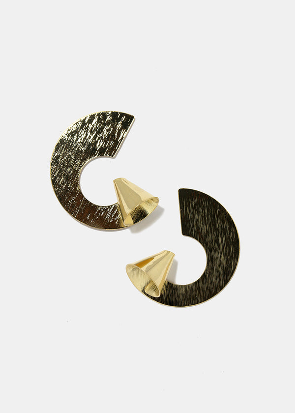 Cone Semi Circle Earrings