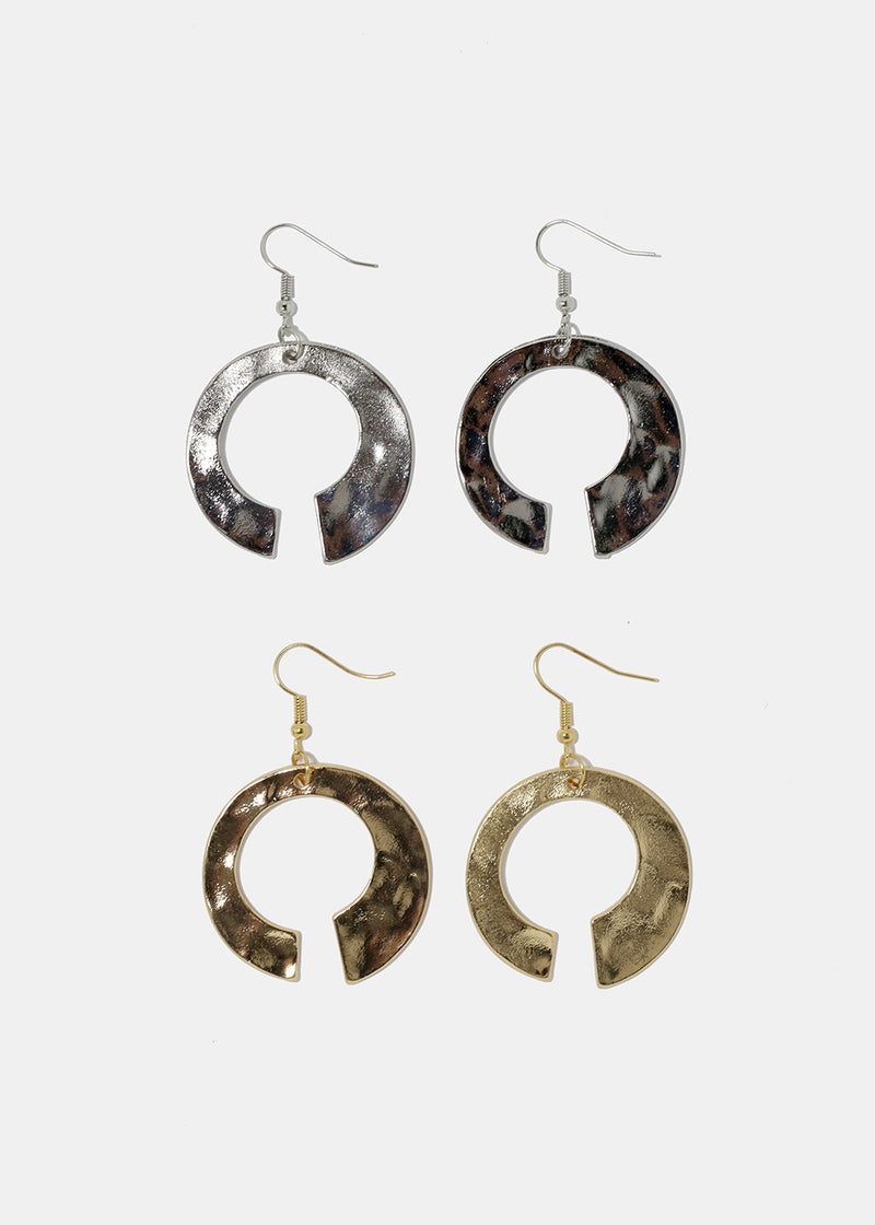 Open Hoop Dangle Earrings