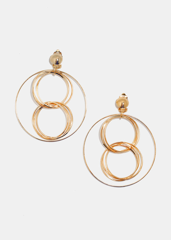 Linked Ring Hoop Earrings