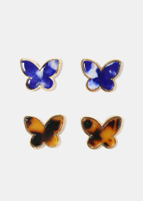 Butterfly Enamel Stud Earrings