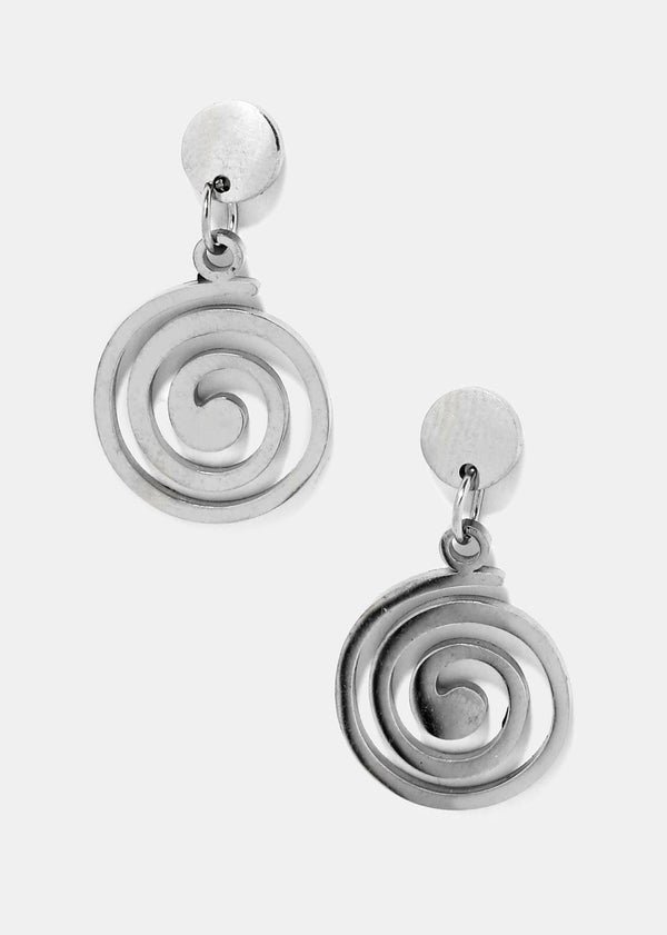 Metal Swirl Dangle Earrings