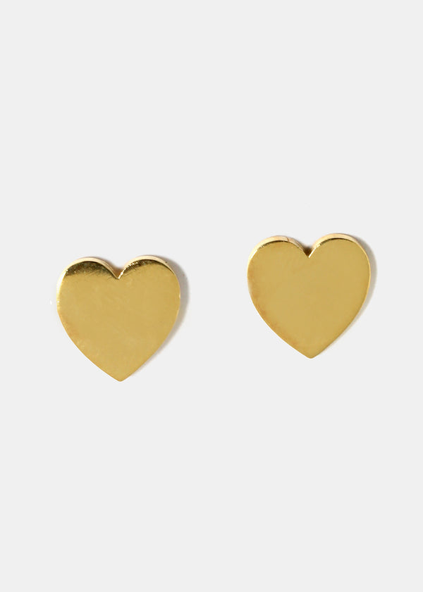 Smooth Metal Heart Studs