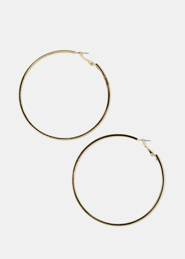 Large Gold Smooth Hoop