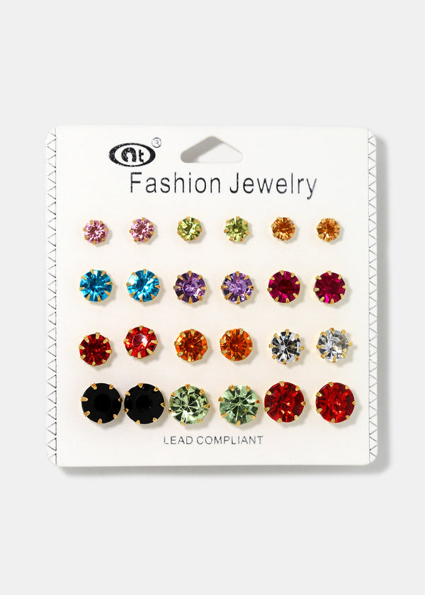 12-Piece Multi-Color Stud Set
