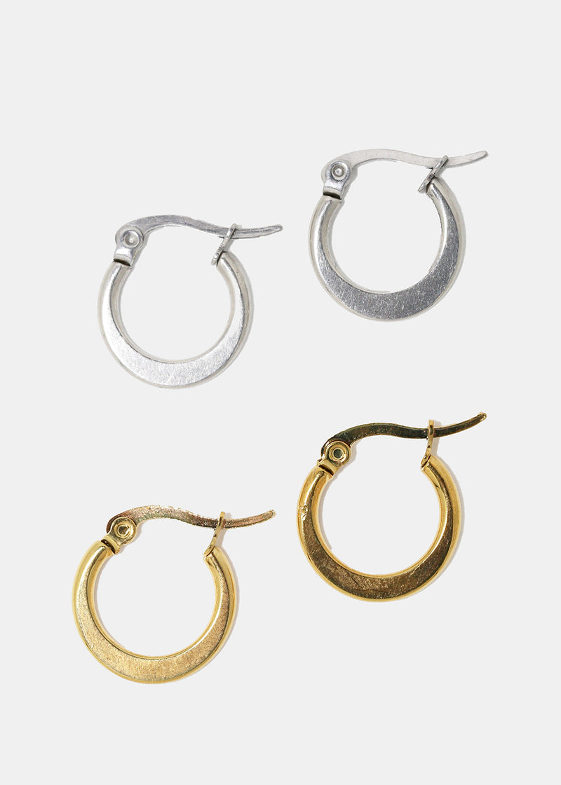 Mini Flat Hoop Earrings