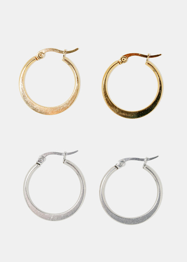 Small Flat Hoop Earrings