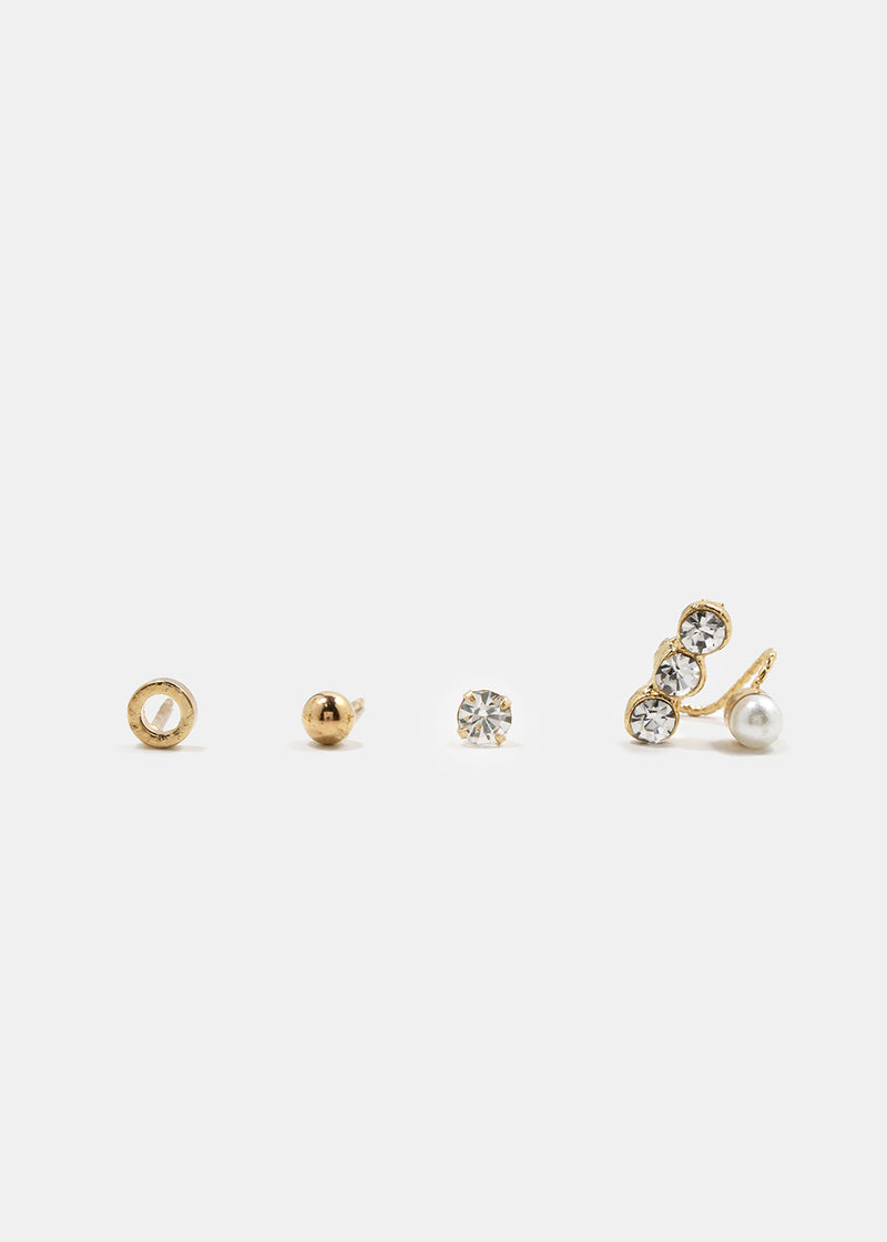 5-Piece Gold Mixed Studs