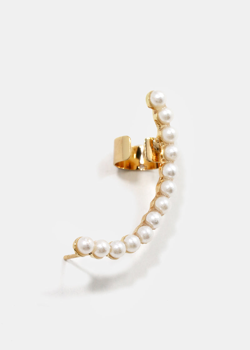 2-Piece Pearl Ear Cuff Set