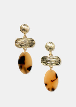 Gold & Resin Dangle Earrings