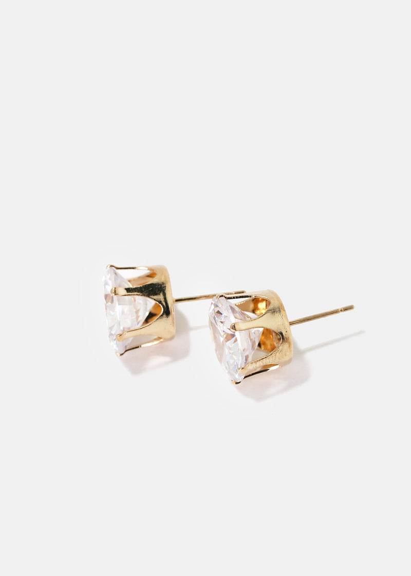Large Gemstone Stud Earrings