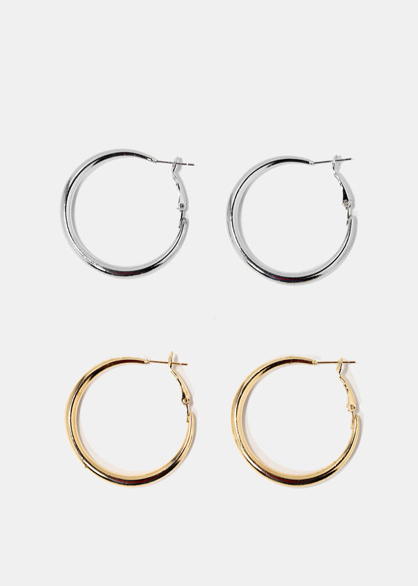 Small Thick Hoop Earrings