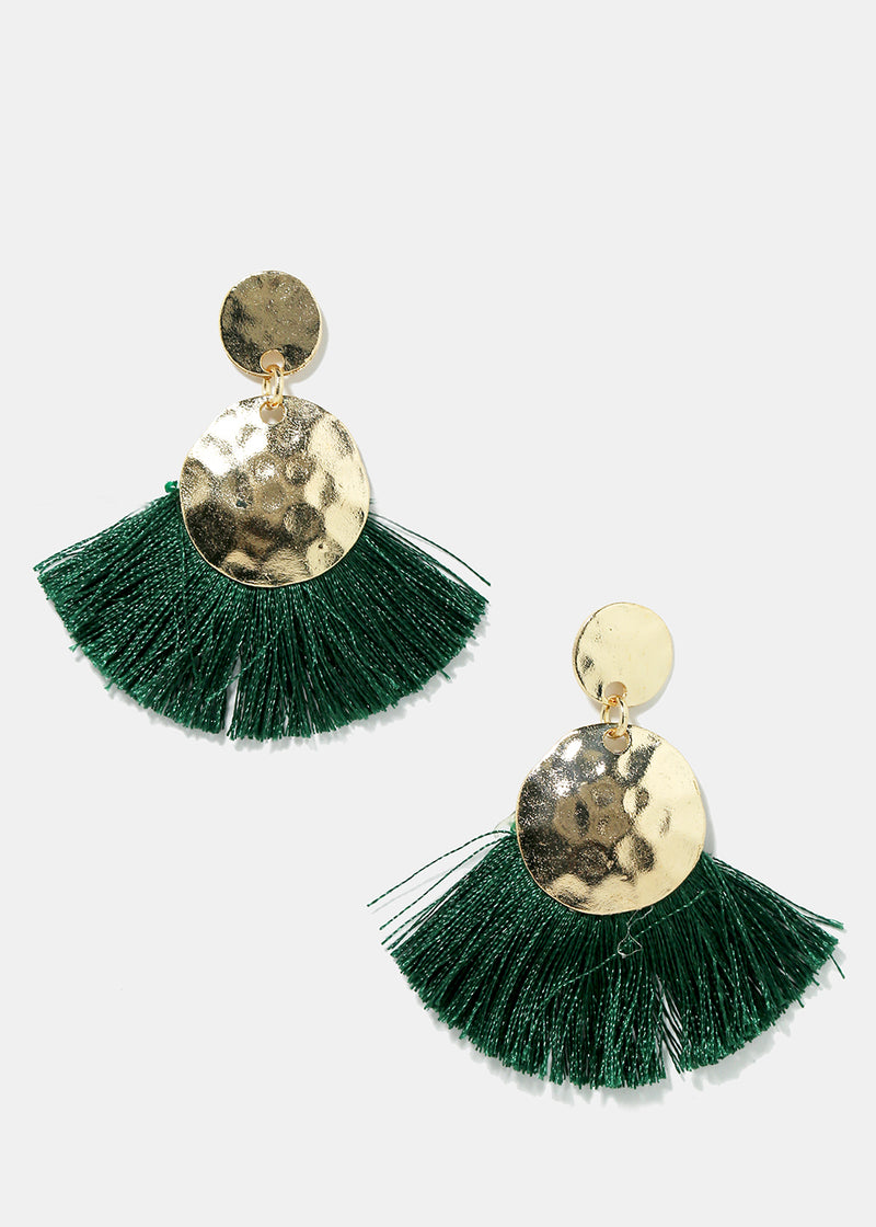 Disc & Tassel Earrings