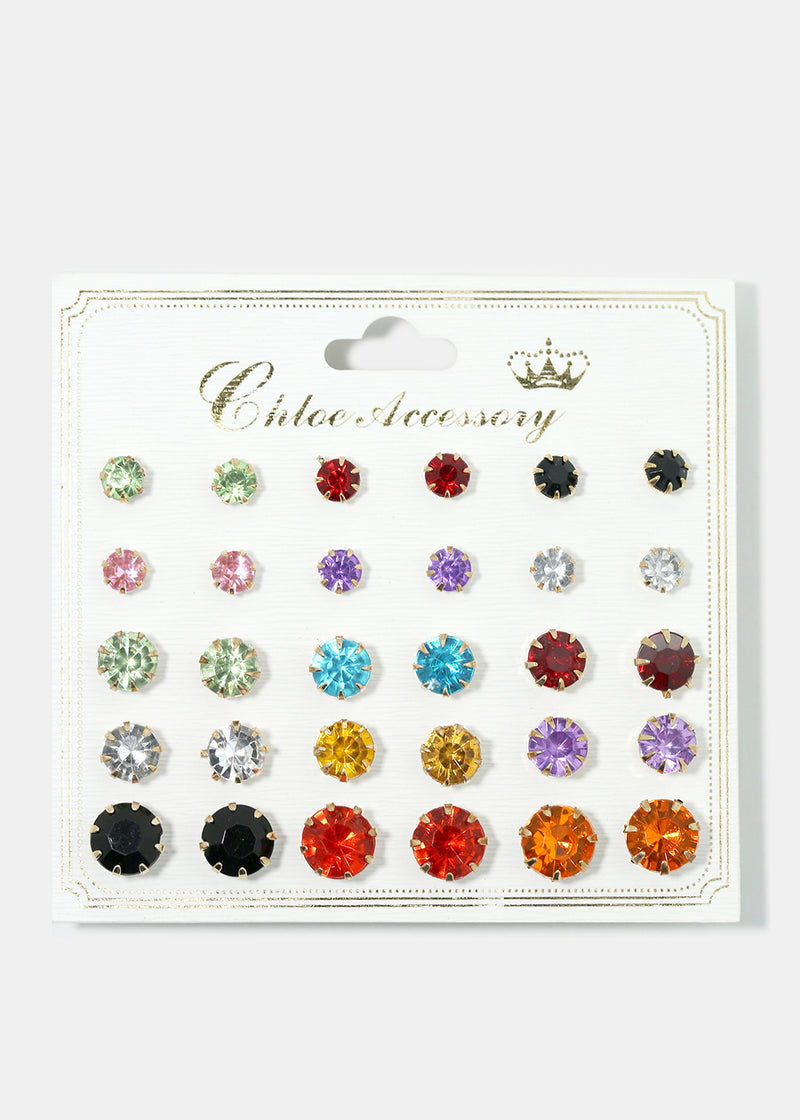 15-Pair Multi Earring Set